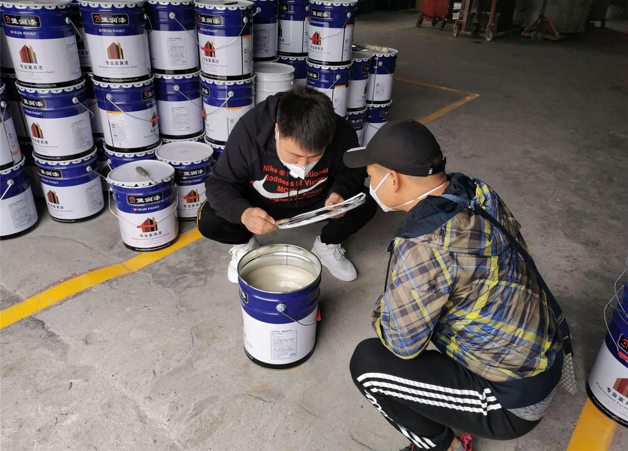河北香河家具漆经销商到访堡润家具漆厂家